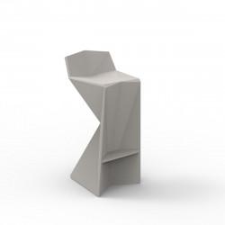 Tabouret design Vertex, Vondom taupe Mat