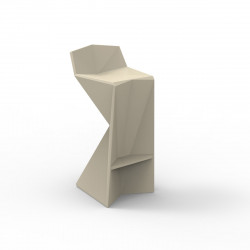 Tabouret design Vertex, Vondom ecru Laqué