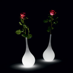 Vase lumineux Ampoule, MyYour lumineux blanc Taille S Indoor