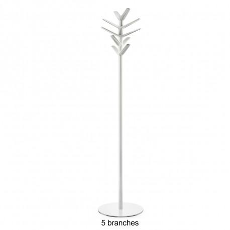 Porte-manteau design Flag, Pedrali blanc 5 branches