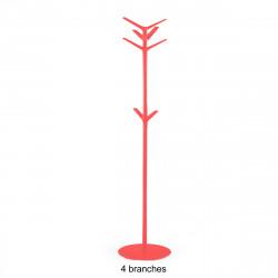 Porte-manteau design Flag, Pedrali rouge 4 branches