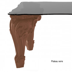 Table Sir of Love, Design of Love by Slide chocolat Longueur 200 cm