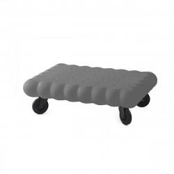 Table basse biscuit Tea Time, Slide Design gris Mat