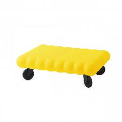 Table basse biscuit Tea Time, Slide Design jaune Mat