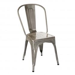 Chaise A Inox Verni, Tolix brillant