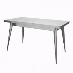 Table 55 Verni, Tolix satiné 130x70 cm