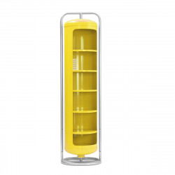 Vestiaire Mono Cylindre Brillant, Tolix citron