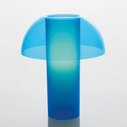 Lampe de table Colette, Pedrali bleu transparent Taille L
