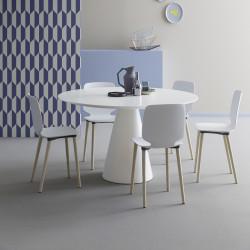Table Ikon 869, Pedrali blanc Diamètre 129 cm
