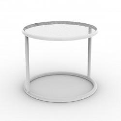 Table basse Kes, Vondom blanc Diamètre 40 cm