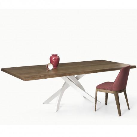 Table Sculptura en bois Noyer plaqué 250x106 cm