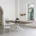 Table Sculptura en bois orme 190/240/290x90 cm