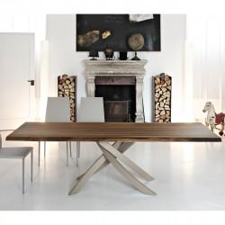 Table Sculptura en bois noyer massif 200x106 cm