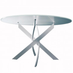 Table Elica ronde Extrawhite brillant Diamètre 150 cm