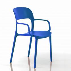 Chaise gipsy avec accoudoirs bleu marine