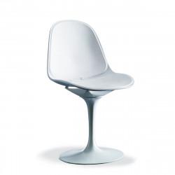 Chaise pivotante Prestigio blanc
