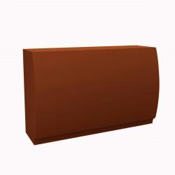 Banque d'accueil Round, élément droit, Proselec bronze Mat