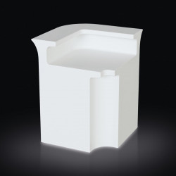 Break Corner Bar, module d'angle bar lumineux, Slide Design blanc