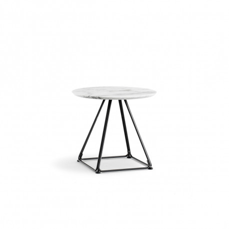 Table basse Lunar, Pedrali blanc Diamètre 50 cm