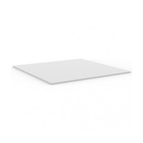 Plateau de table carré Mari-Sol ,Vondom blanc,bordure blanche 89x89 cm