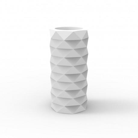 Pot de Jardin Marquis diamètre 25 cm x hauteur 53 cm, Vondom blanc Mat