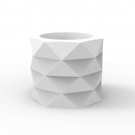 Pot de Jardin Marquis diamètre 60 cm x hauteur 50 cm, Vondom blanc Mat
