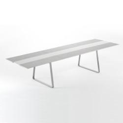 Table Extensible Extrados Large Céramique Gris et Aluminium 242x332x110 cm