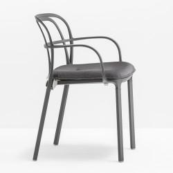 Coussin d\'assise 3715.5 pour chaise Intrigo, Pedrali, gris