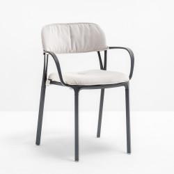 Kit coussin assise et dossier 3715.20 pour chaise Intrigo, Pedrali, blanc