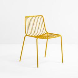 Lot de 2 chaises design filaires Nolita 3650, Pedrali, jaune