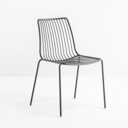 Lot de 2 chaises design filaires Nolita 3650, Pedrali, gris anthracite