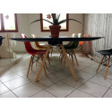 Arki bureau design avec passage de câbles, Pedrali noir 360x120 cm