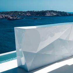 Banque d'accueil Origami, élément droit, Proselec blanc Laqué