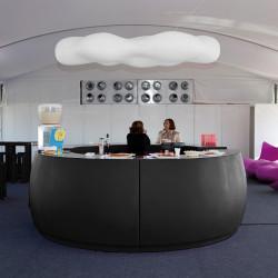 Banque d'accueil Round, élément d'angle, Proselec noir Mat