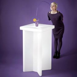 Table haute design carré X2, Slide Design, blanc