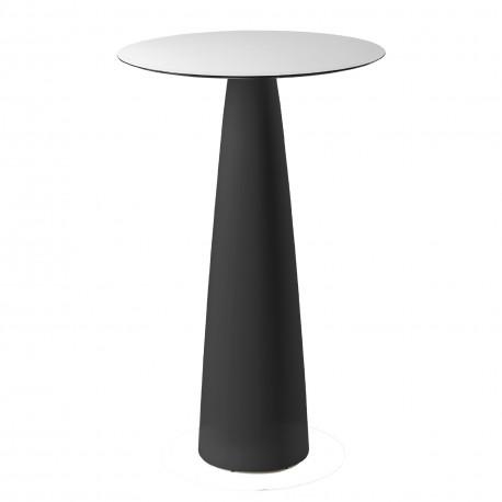 Mange-debout rond Hoplà, Slide design noir D79xH110 cm