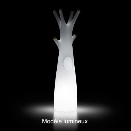 Porte-manteau arbre Godot, Lumineux 60 LED RGB, alimentation filaire, Plust Collection, embouts verts