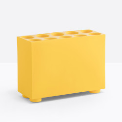 Porte parapluie Brick 10 emplacements, Pedrali jaune