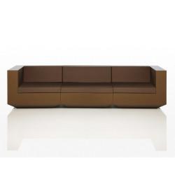 Canapé modulable Vela, Vondom bronze Longueur 3 m