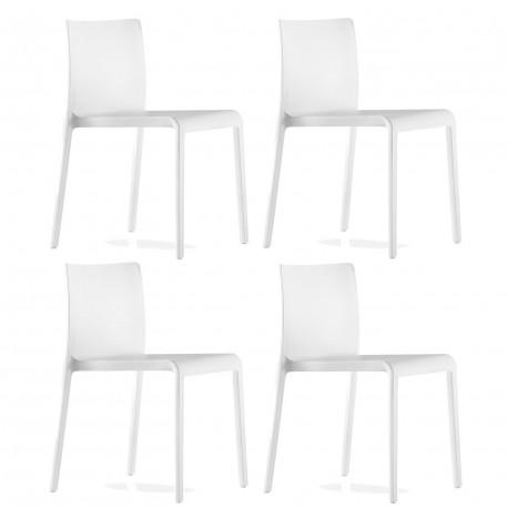 Lot de 4 Chaises Volt 670, Pedrali, blanc
