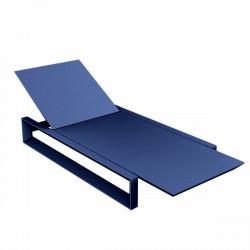 Chaise longue Frame avec coussin tissu Nautic, Vondom bleu marine