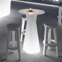 Mange debout lumineux Frozen, Plust Collection, plateau blanc diamètre 60 cm