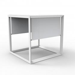 Pergola pour bain de soleil 2 places Vela avec store blanc, Vondom, 204x204x204cm