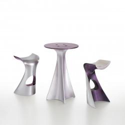 Mange debout Jet Next, Slide Design argent et violet laqué D62xH100 cm
