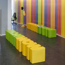 Banc Wow, Slide Design jaune Mat