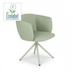 Fauteuil design pivotant Not, True design assise et pieds vert