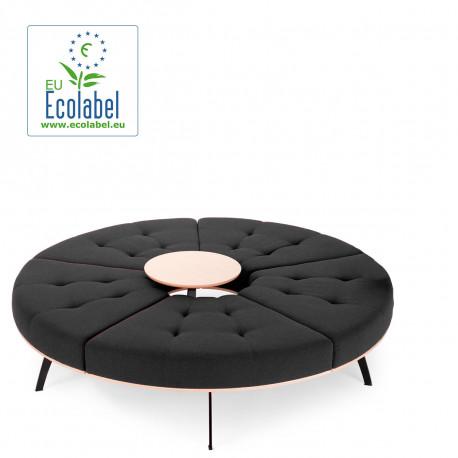 Banquette ronde Millepiedi True design, anthracite, diamètre 156 cm