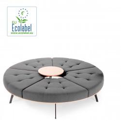 Banquette ronde Millepiedi True design, gris clair, diamètre 156 cm