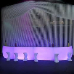 Module droit comptoir de Bar Design Round 120, lumineux Lumineux LED RGBW filaire