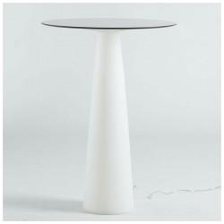 Mange-debout rond Hoplà, Slide design blanc D69xH110 cm